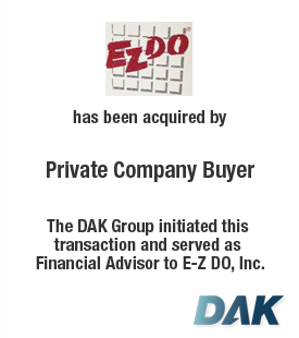 E-Z DO, Inc. has been acquired by Private Company Buyer