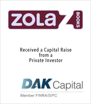 Zola Books Funding DAK Capital
